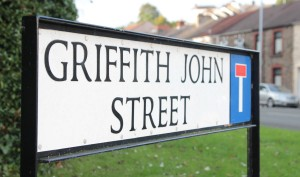 Griffith John Street - formaly Emma Street where Griffith John was born